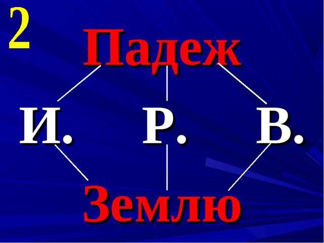 Падеж И. Р. В. Землю