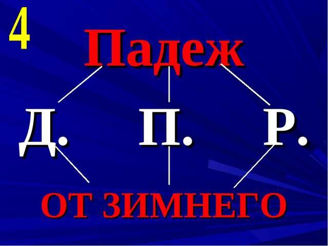 Падеж Д. П. Р. ОТ ЗИМНЕГО