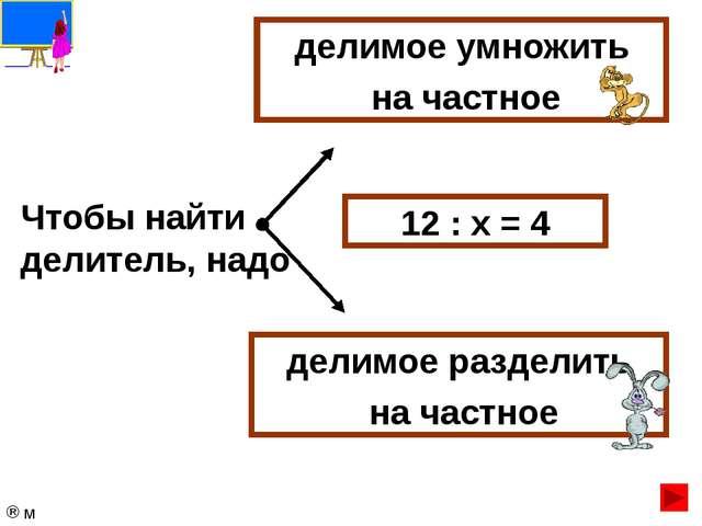 Результат действия деления называется… произведение сумма частное разность 1...