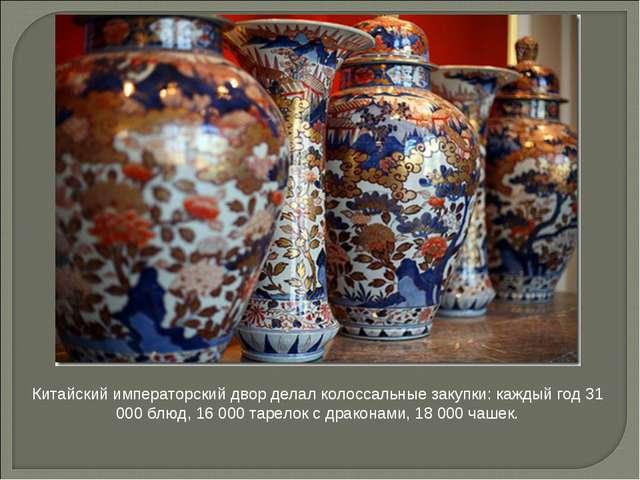 Китайский императорский двор делал колоссальные закупки: каждый год 31 000 бл...