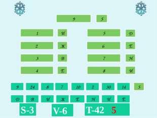 1 И 5 Д 8 И 2 Ж 3 В 4 Е 6 Е 7 Н 9 24 8 7 10 2 30 14 Д В И Ж Е Н И Е T-42 5 S-