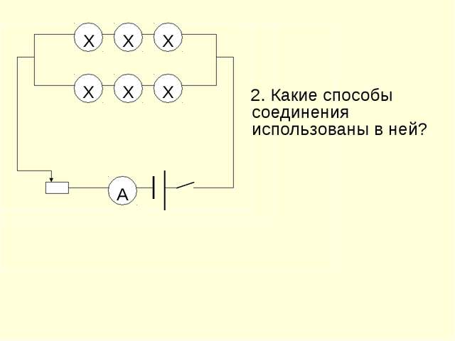 Х Х Х Х Х Х  2. Какие способы соединения использованы в ней?