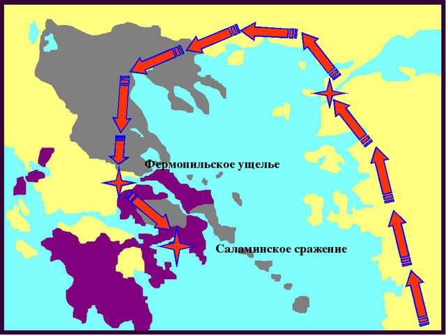 Фермопильское ущелье Саламинское сражение
