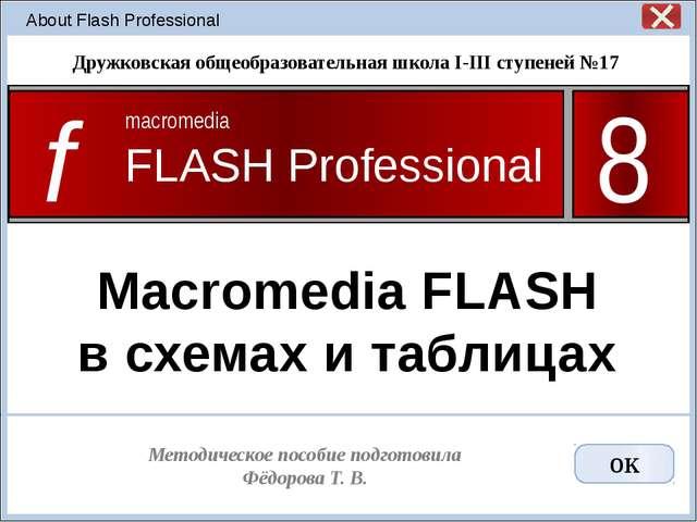 Macromedia FLASH в схемах и таблицах Подготовили учителя информатики Кудин О....