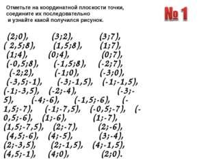 (2;0), (3;2), (3;7), ( 2,5;8), (1,5;8), (1;7), (1;4), (0;4), (0;7), (-0,5;8)