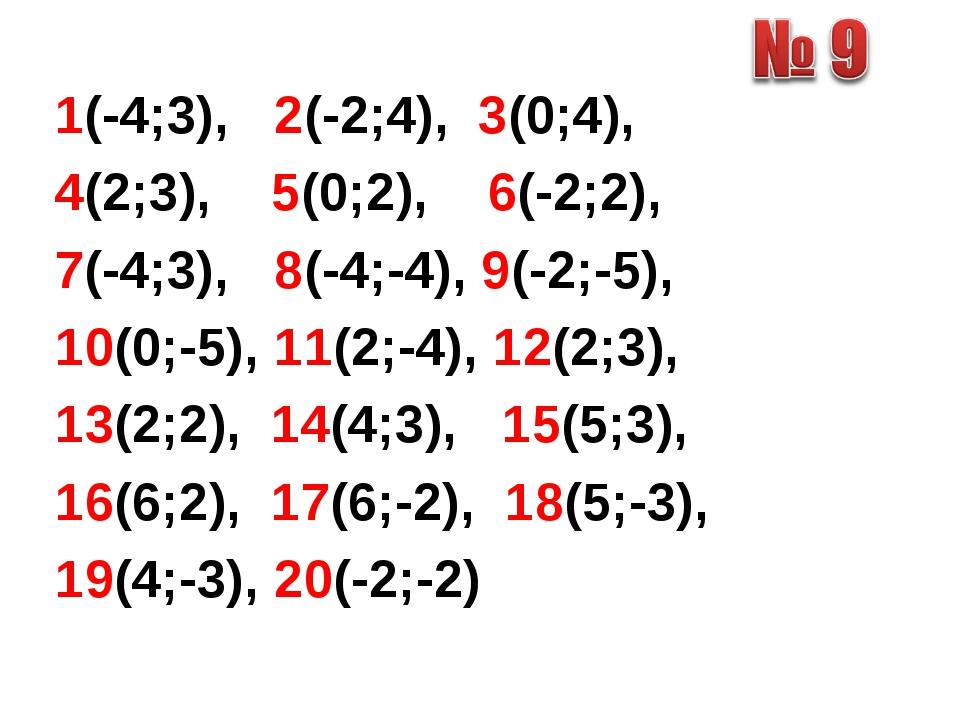 1(-4;3), 2(-2;4), 3(0;4), 4(2;3), 5(0;2), 6(-2;2), 7(-4;3), 8(-4;-4), 9(-2;-5...