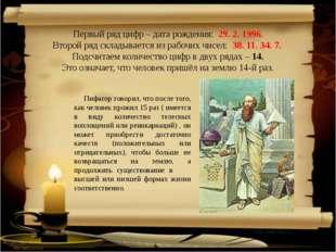 http://aida.ucoz.ru Первый ряд цифр – дата рождения: 29. 2. 1996. Второй ряд