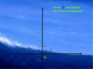 о 1 1 Точку О называют началом координат.
