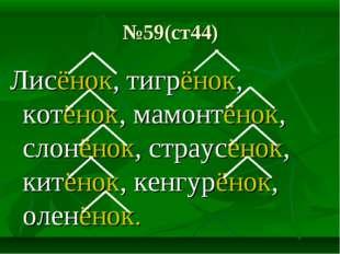 №59(ст44) Лисёнок, тигрёнок, котёнок, мамонтёнок, слонёнок, страусёнок, китён