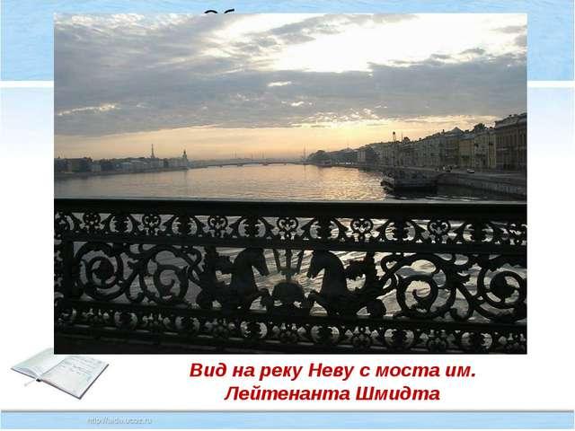 Вид на реку Неву с моста им. Лейтенанта Шмидта