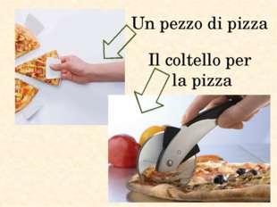 Un pezzo di pizza Il coltello per la pizza