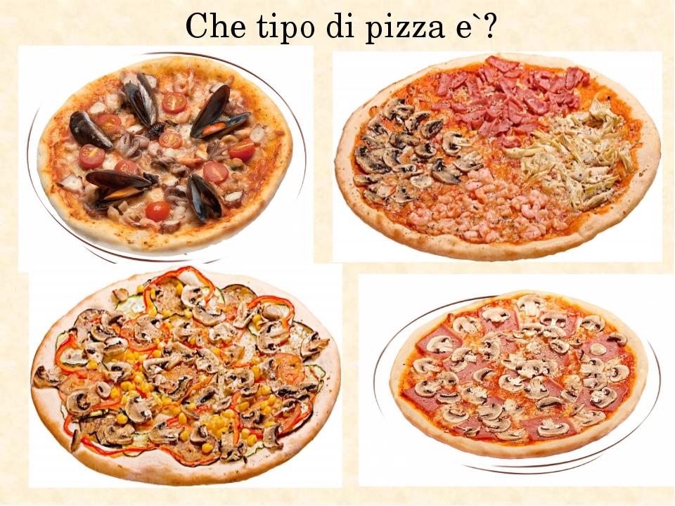 Che tipo di pizza e`?