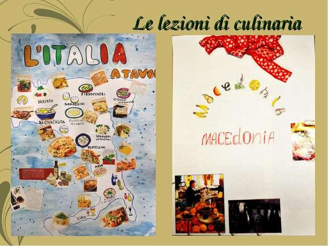 Le lezioni di culinaria
