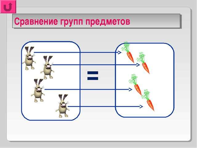 Сравнение групп предметов =