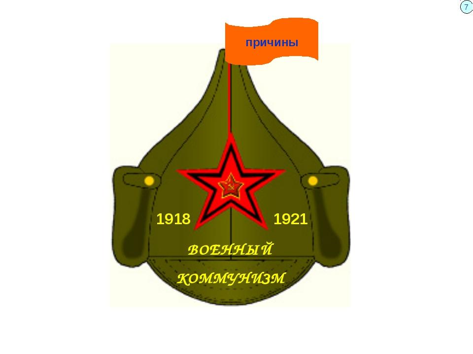 ВОЕННЫЙ КОММУНИЗМ причины 1918 1921 7