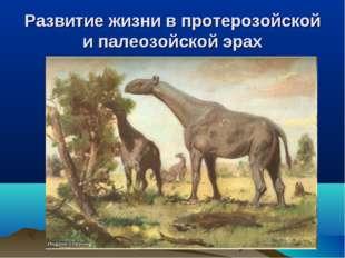 Развитие жизни в протерозойской и палеозойской эрах
