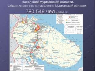 Население Мурманской области. Общая численность населения Мурманской области