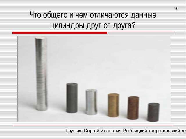 Что общего и чем отличаются данные цилиндры друг от друга? 3 Трунько Сергей И...