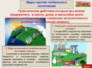 Меры против глобального потепления Далее Практические действия которые мы мо