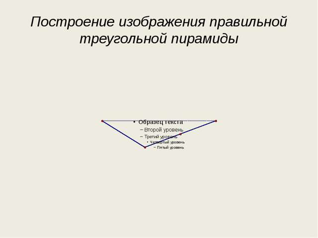 Построение изображения правильной треугольной пирамиды