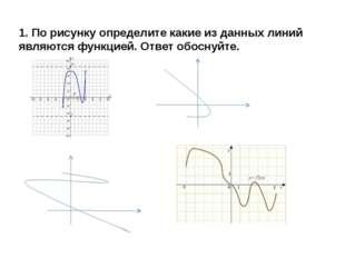 1. По рисунку определите какие из данных линий являются функцией. Ответ обосн