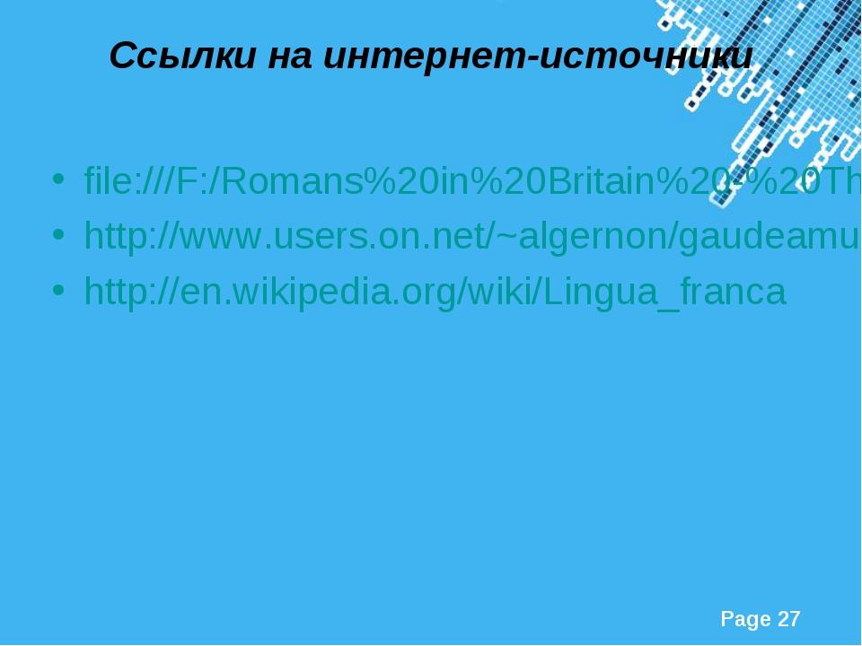 Ссылки на интернет-источники file:///F:/Romans%20in%20Britain%20-%20The%20Lat...
