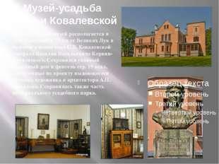 Музей-усадьба Софьи Ковалевской Мемориальный музей располагается в селе Полиб