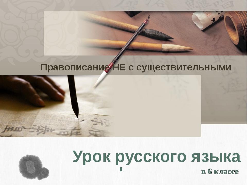 Урок русского языка в 6 классе Правописание НЕ с существительными