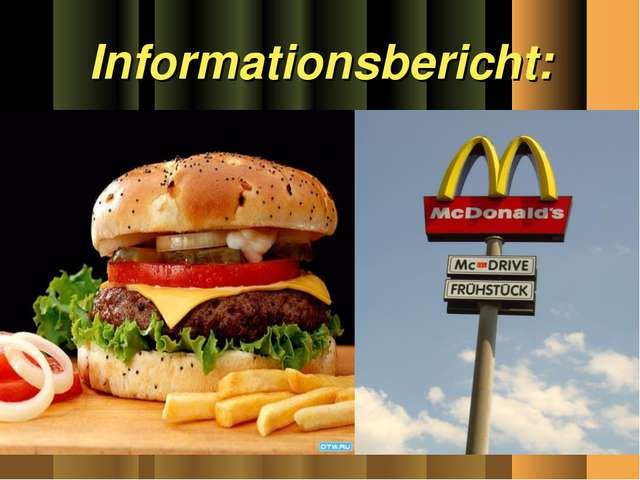 Informationsbericht:
