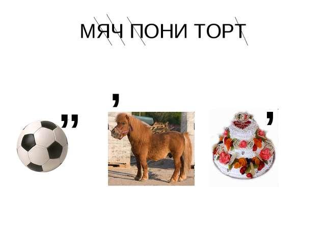 МЯЧ ПОНИ ТОРТ