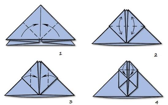 снеговик оригами для начинающих
