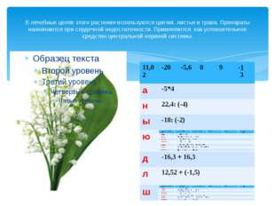 В лечебных целях этого растения используются цветки, листья и трава. Препарат