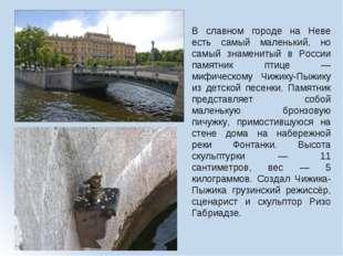 В славном городе на Неве есть самый маленький, но самый знаменитый в России п