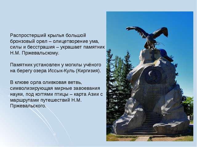 Распростерший крылья большой бронзовый орел – олицетворение ума, силы и бесст...
