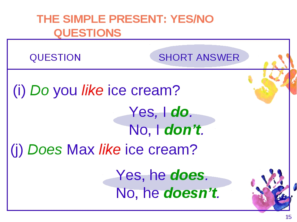 Present Simple (Short Answers) - Grammar