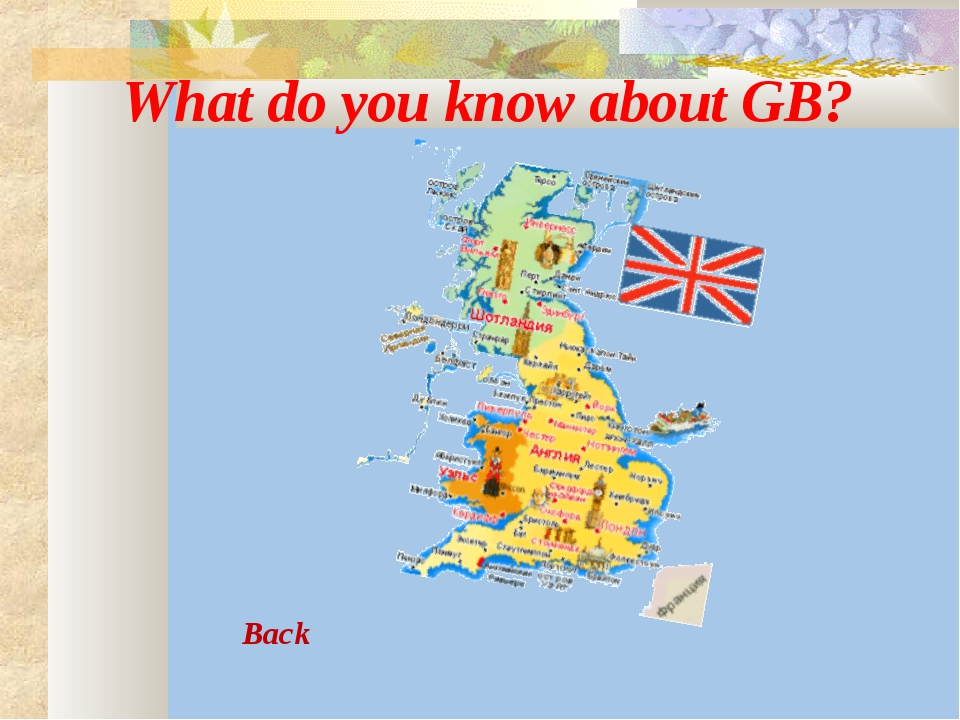 What do you know about GB? Back