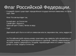 Флаг Российской Федерации. В каждой стране существует определённая государств