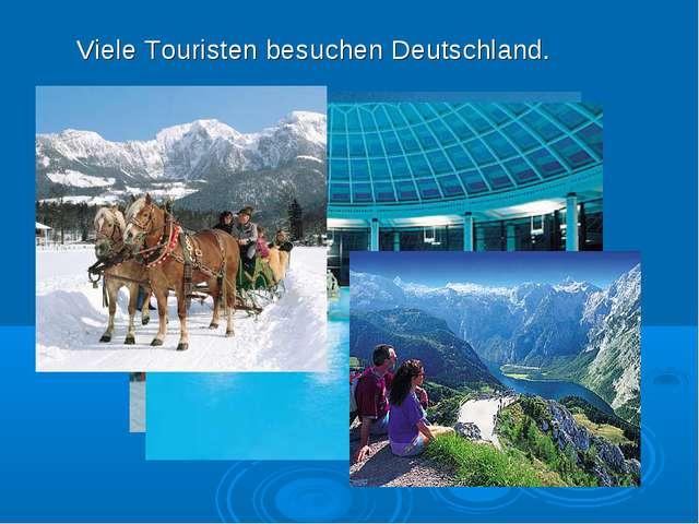 Viele Touristen besuchen Deutschland.