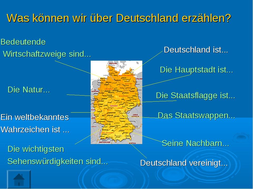 Deutschland ist... Die Hauptstadt ist... Die Staatsflagge ist... Das Staatswa...