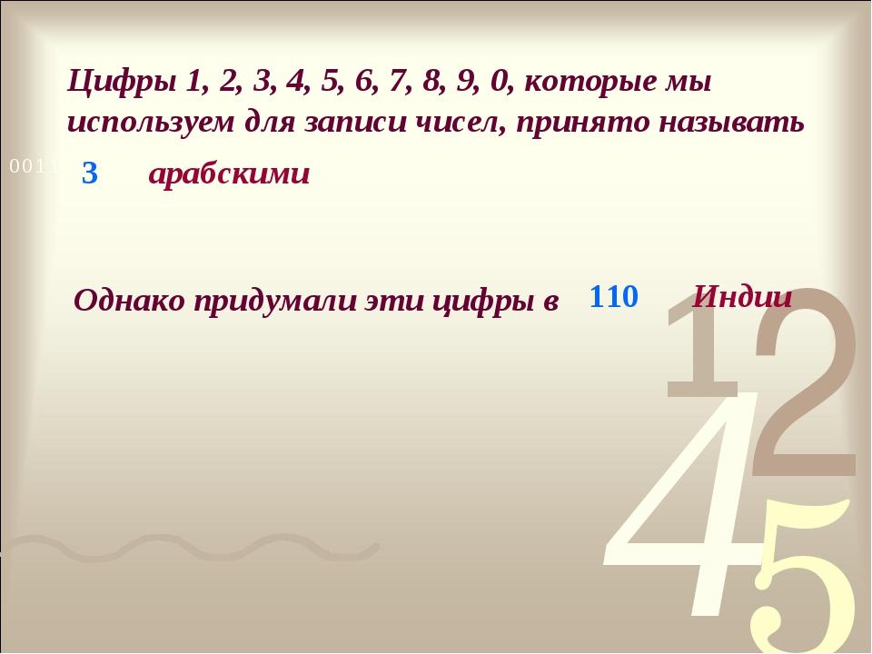 Цифры 1, 2, 3, 4, 5, 6, 7, 8, 9, 0, которые мы используем для записи чисел, п...
