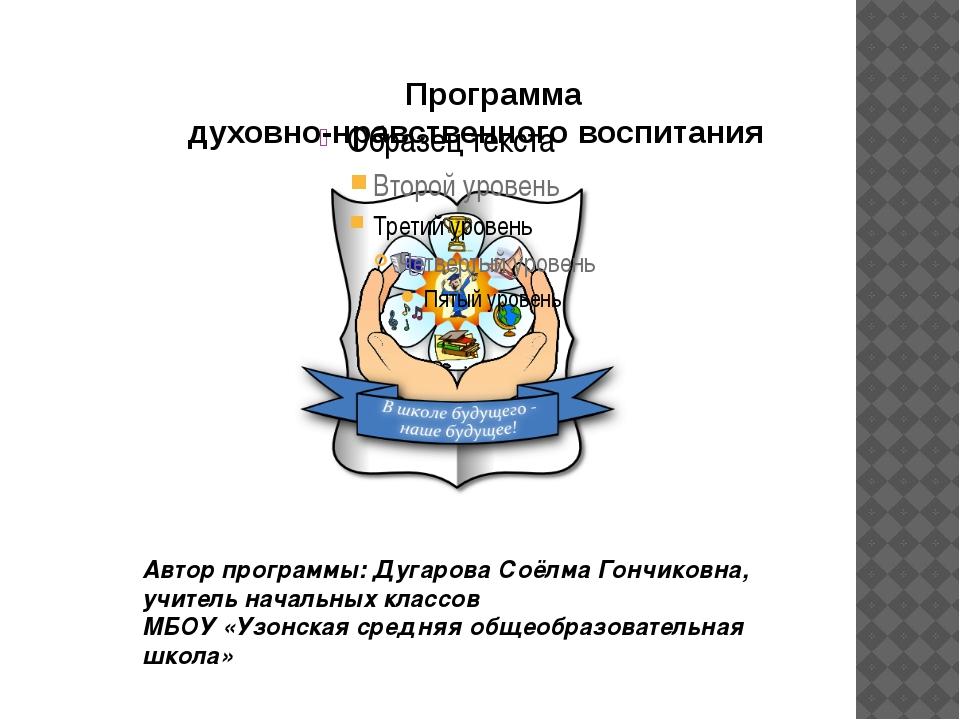 Программа духовно-нравственного воспитания Автор программы: Дугарова Соёлма...