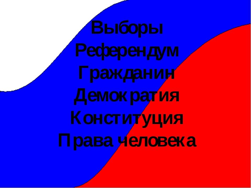 Выборы Референдум Гражданин Демократия Конституция Права человека