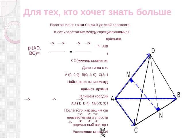 Для тех, кто хочет знать больше Геометрический способ Сделаем дополнительные...
