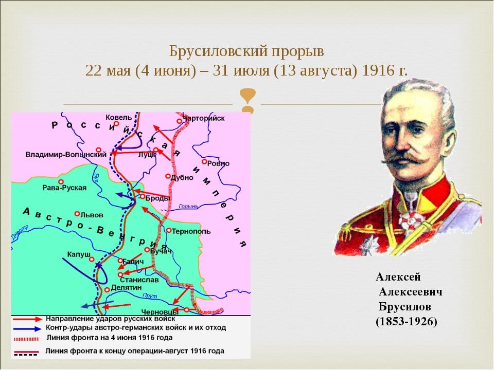 Брусиловский прорыв 22 мая (4 июня) – 31 июля (13 августа) 1916 г. Алексей Ал...