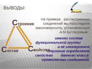 ВЫВОДЫ: На примере рассмотренных соединений мы проследили закономерность, ус