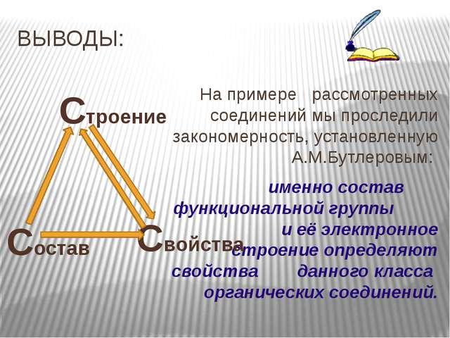 ВЫВОДЫ: На примере рассмотренных соединений мы проследили закономерность, ус...