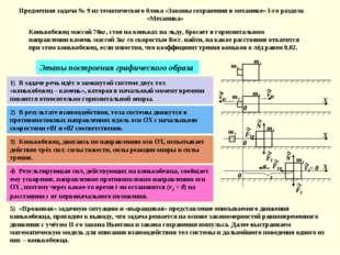 Предметная задача № 9 из тематического блока «Законы сохранения в механике» I