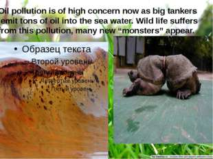 Oil pollution is of high concern now as big tankers emit tons of oil into the