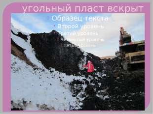 угольный пласт вскрыт