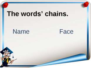 The words' chains. Name Face
